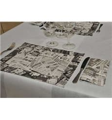 """Set de Table papier 30x40cm """"Presse"""" Noir 50g (2500 Utés)"""