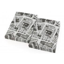 """Serviette en Papier SNACK """"Presse"""" 17x17cm (200 Unités)"""