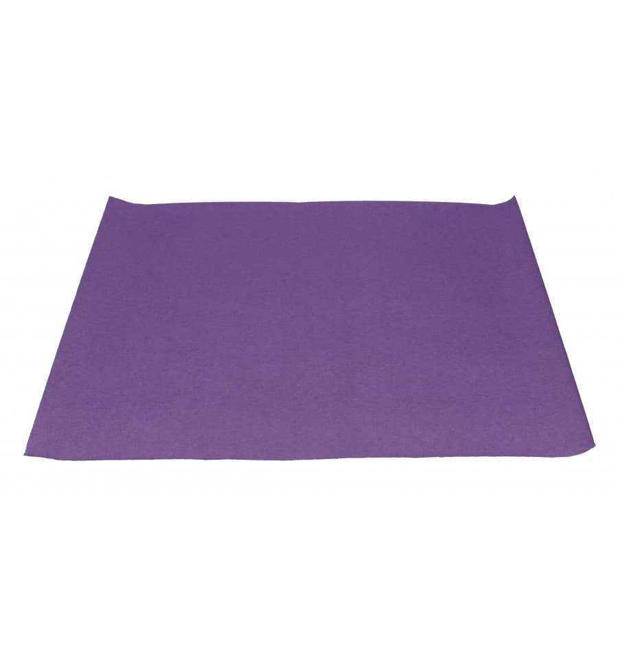 Set de table papier 30x40cm violet 40g ut s for Set de table violet
