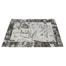 """Set de Table papier 30x40cm """"Presse"""" Noir 50g (500 Utés)"""