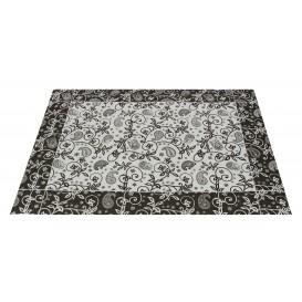 """Set de Table papier 30x40cm """"Cachemire"""" Noir 50g (2500 Utés)"""