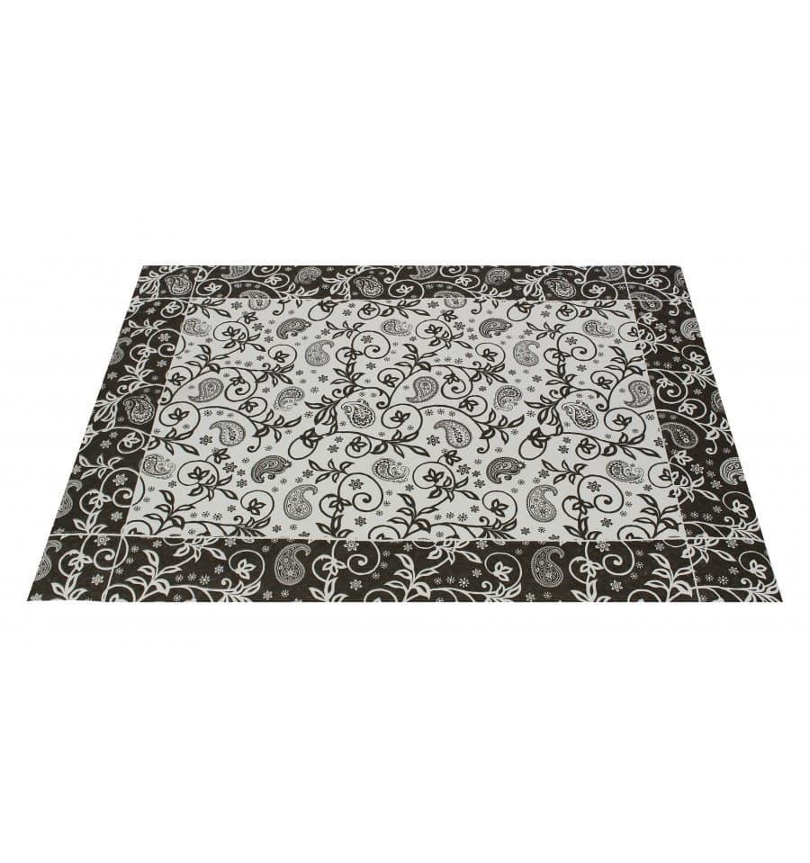 Set de table papier 30x40cm cachemire noir 50g 2500 for Set de table papier