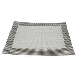 """Set de Table 30x40cm """"Patte d'Oie"""" Noir 50g (2500 Utés)"""