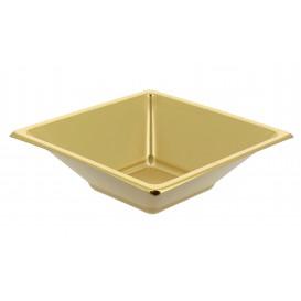 Bol carré en plastique doré 120x120x40mm (25 Utés)