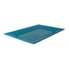 Plateau Plastique Turquoise Rectang. 330x 225mm (180 Utés)