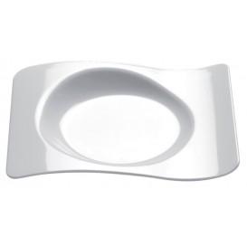 """Assiette Dégustation """"Forma"""" Blanc 80x66mm (500 Utés)"""
