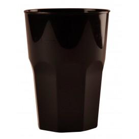 Verre Plastique à Cocktail Noir PP Ø84mm 350ml (420 Utés)