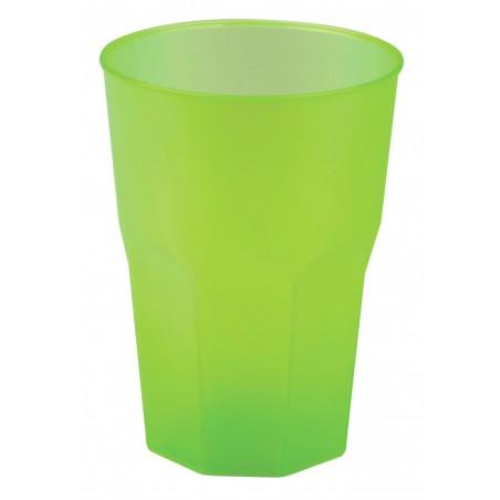Verre Plastique Vert Lime PP 250ml (20 Unités)
