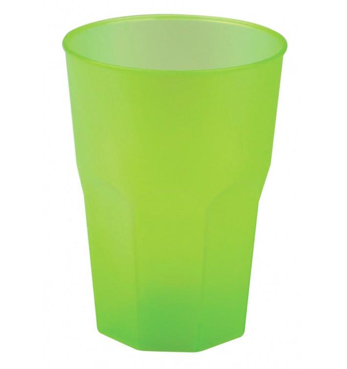 """Verre Plastique """"Frost"""" Vert citron PP 350ml (420 Unités)"""
