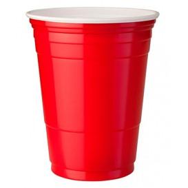 Gobelet Plastique Rouge en PET 12oz (50 Unités)