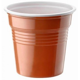 Gobelet Plastique PS Bicolore Marron 80ml Ø5,7cm (2400 Utés)