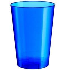 Verre Plastique Bleu Pearl PS 200ml (50 Unités)