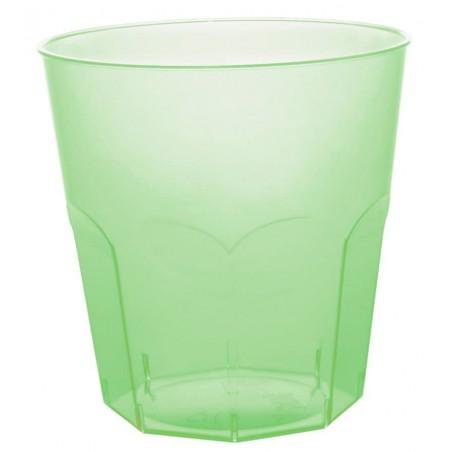 Verre Plastique Vert citron Transp. PS Ø73mm 220ml (500 Utés)
