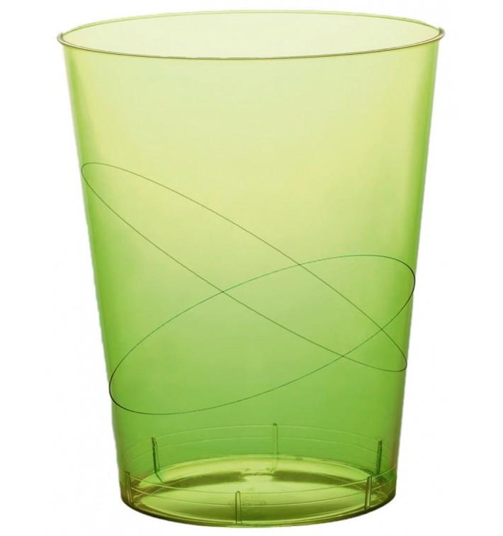 Verre Plastique Moon Vert citron Transp PS 350ml (20 Unités)