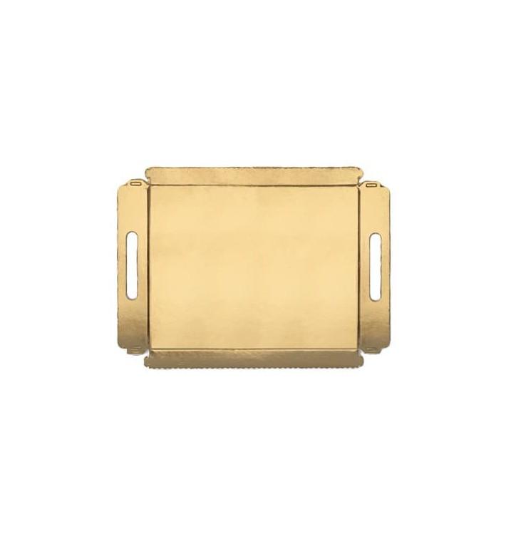 Plateau carton avec poignées metallisées 22x28cm (5 Utés)