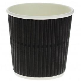 Gobelet Carton 4oz/120ml Ondulé Noir Ø6,0cm (1.000 Unités)