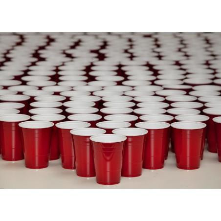 Gobelet Plastique Rouge en PS 12Oz/360ml (1000 Unités)