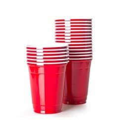 Gobelet Plastique Rouge Americain 16 Oz/470ml (50 Unités)