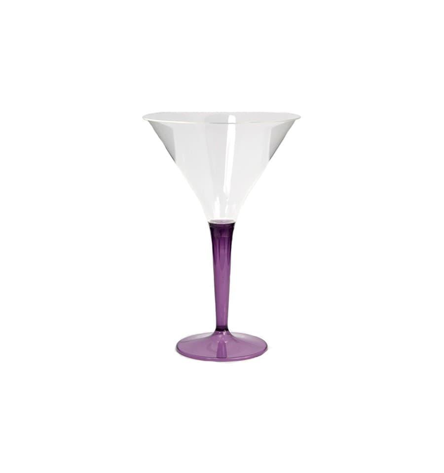 verre cocktail plastique aubergine 100ml 6 unit s. Black Bedroom Furniture Sets. Home Design Ideas