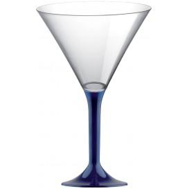 Flûte en Plastique Cocktail Pied Bleu 185ml (20 Unités)