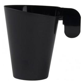 Tasse Plastique Design Noir 155ml (12 Unités)