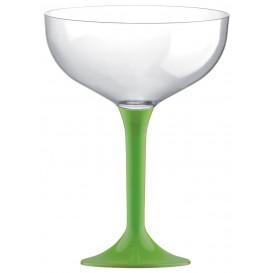 Flûte Champagne Plastique Pied Vert citron 200ml (200 Unités)