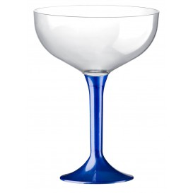 Flûte Champagne Plastique Pied Bleu Mediterrannée 200ml (200 Unités)