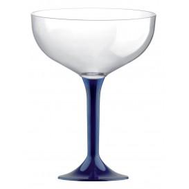 Flûte Champagne Plastique Pied Bleu 200ml (20 Unités)