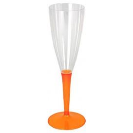 Flûte Champagne Plastique Orange 100ml (72 Unités)