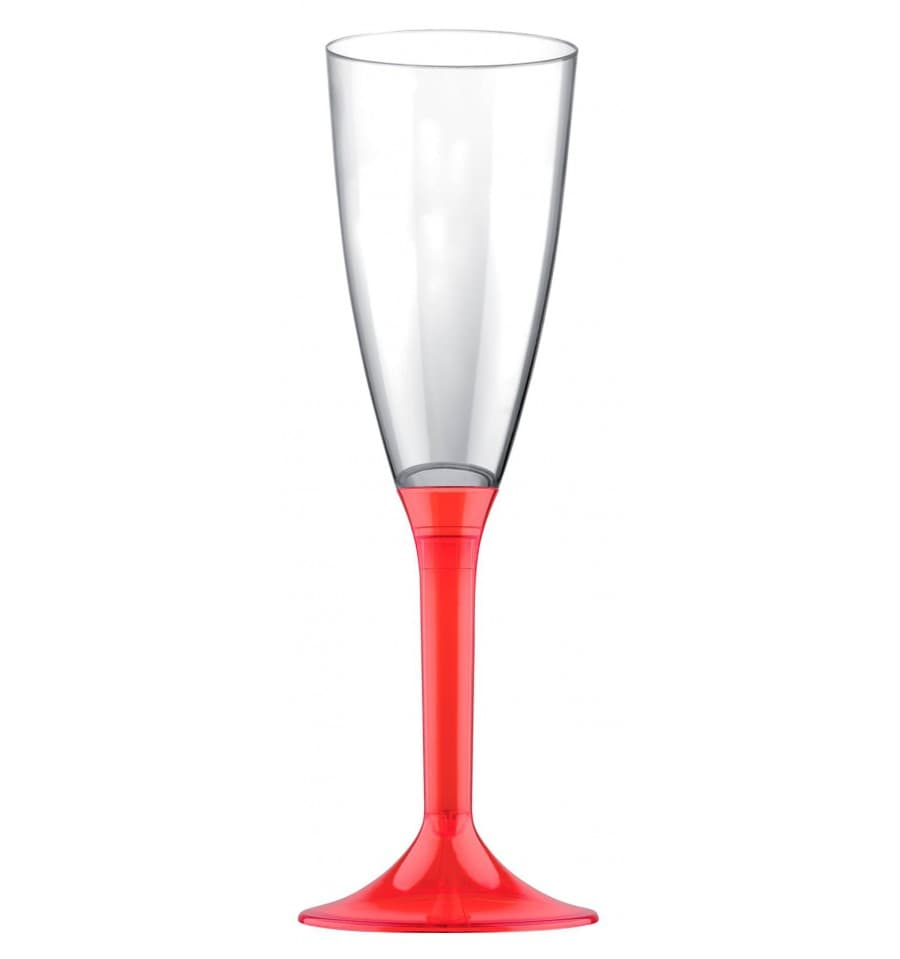 fl te champagne plastique pied rouge 2p 200ut s. Black Bedroom Furniture Sets. Home Design Ideas