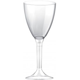 Flûte Plastique Vin Pied Transparent 180ml 2P (20 Utés)