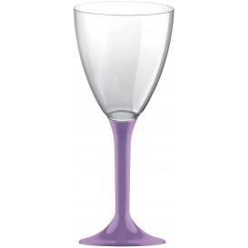 Flûte Plastique Vin Pied Lilas 180ml (20 Unités)