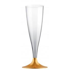 Flûte Champagne Plastique Or 140ml (200 Unités)