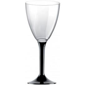 Flûte Plastique Vin Pied Noir 180ml (20 Unités)