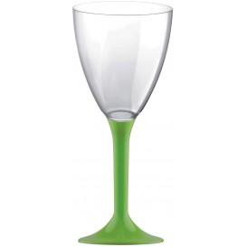 Flûte Plastique Vin Pied Vert citron 180ml (20 Unités)