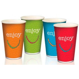 "Gobelet Carton 16oz/500ml ""Enjoy"" Ø9cm (50 Utés)"