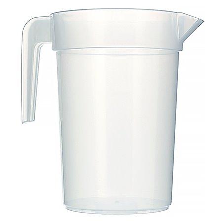"""Carafe d'eau plastique de 1l """"Incassable"""" (6 Unités)"""