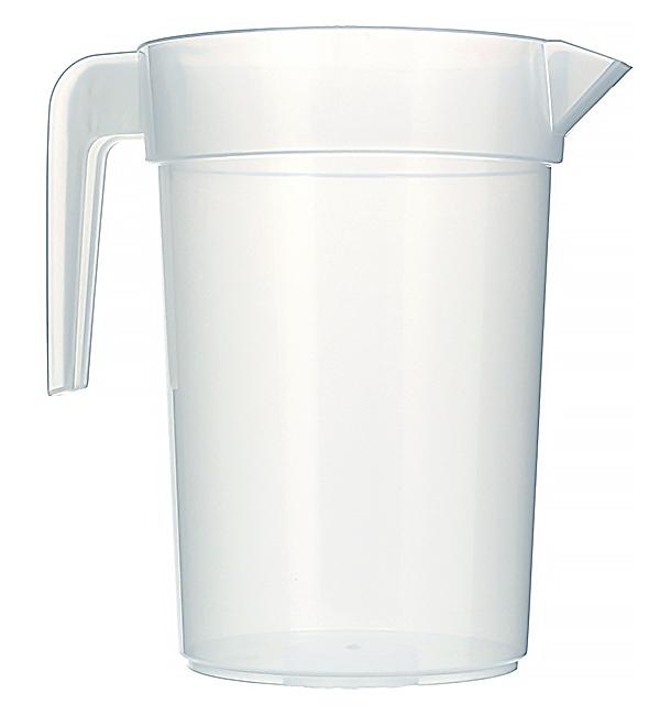 """Carafe d'eau plastique de 1l """"Incassable"""" (120 Unités)"""