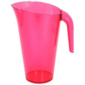 Carafe Plastique Framboise Réutilisable 1.500 ml (1 Unité)