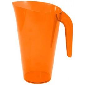 Carafe Plastique Orange Réutilisable 1.500 ml (20 Unités)