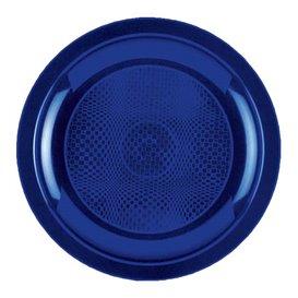 Assiette Plastique Plate Bleu Round PP Ø185mm (50 Utés)