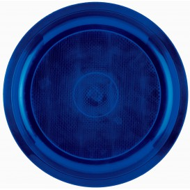 Assiette Plastique Bleu Round PP Ø290mm (300 Utés)