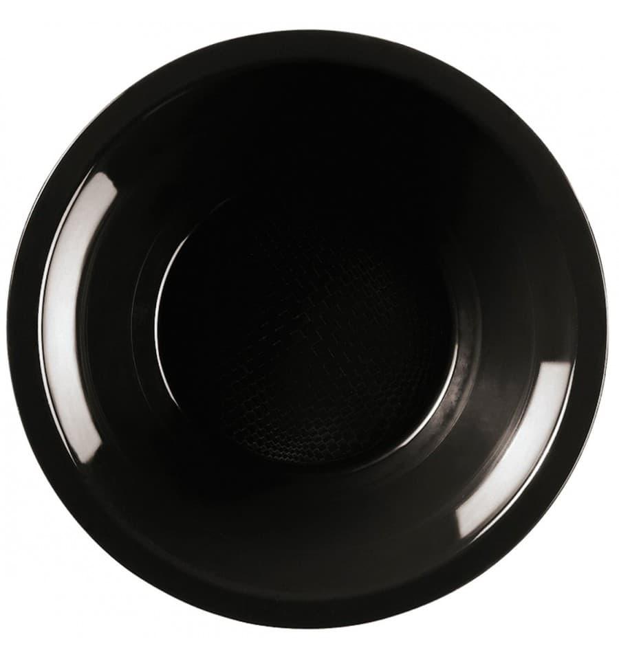 assiette plastique creuse noir round pp 195mm 600 ut s. Black Bedroom Furniture Sets. Home Design Ideas
