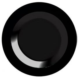 Assiette Plastique Creuse Dur Noire 23cm (200 Utés)