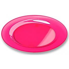 Assiette Plastique Extra Dur Framboise 23cm (6 Unités)