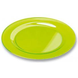 Assiette Plastique Extra Dur Verte 19cm (120 Unités)