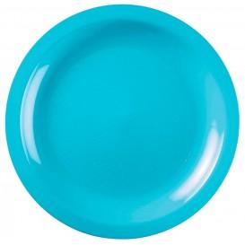 Assiette Plastique Plate Turquoise Round PP Ø185mm (600 Utés)