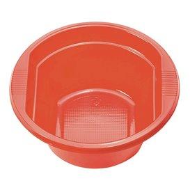 Bol Plastique PS Rouge 250ml Ø12cm (660 unités)