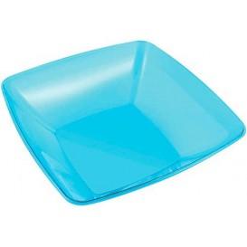 Bol Plastique carré Turquoise 28x28cm (1 Unité)