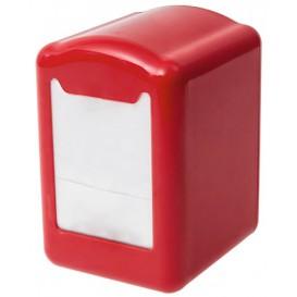 Distributeur à Serviettes Plastique Rouge 17x17cm (1 Unité)